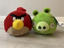 Angry Birds Green Pig Red Bird Deluxe Plush Duo Set - Rovio Commonwealth