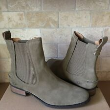 UGG HILLHURST ANTILOPE FASHION SUEDE CHELSEA ANKLE BOOTIES BOOTS SIZE 9 WOMENS
