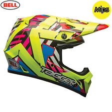 Bell MX9 Tagger Double Trouble Hi Viz Yellow Motocross Helmet Large 59-60cm