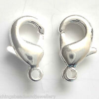 40 Silver Plated 10x5mm Trigger Lobster claw Clasps