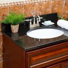 Vanity Top Absolute Black Granite by LessCare (Pickup Only)