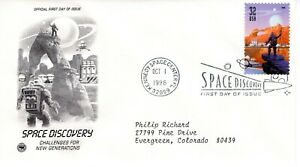 1998 COMMEMORATIVE SPACE DISCOVERY PCS CACHET MACHINE ADDRESSED FDC