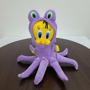 "Tweety Bird Under The Deep Blue Sea Octopus Plush Purple Warner Bros 8.5"" 2001"
