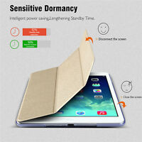 Magnetic PU Leather Smart Stand Cover Hard Back Case For Apple iPad mini 1/2/3