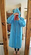 Rain Poncho Adult Portable Quality Raincoat with Hood Waterproof Rainproof L VGC