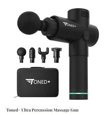 TonedPlus Pro Black Percussion Body Massage Gun with case Like Hypervolt