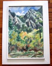 TED SCHUYLER 1904-1990 MOUNTAIN LANDSCAPE PAINTING Signed Listed NEW MEXICO