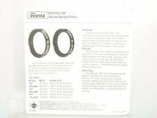 Ashai Pentax-110 UV and Skylight Filters booklet