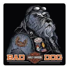 Harley-Davidson Bad Dog Bar & Shield Embossed Tin Sign, 14.5 x 14.5 inch 2011791