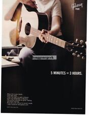 2002 Gibson Acoustic Guitar Vtg Print Ad