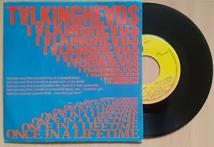 TALKING HEADS Once In A Lifetime 7/45 NEAR MINT PORTUGAL UNIQUE PSYCHIC SLEEVE