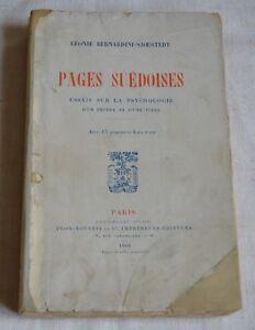 PAGES SUEDOISES DE LEONIE BERNARDINI SJOESTEDT ED PLON 1908