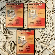 John Deer Learn To Digitize Art Sew Perfect Extended Learning Series 3 DVDs