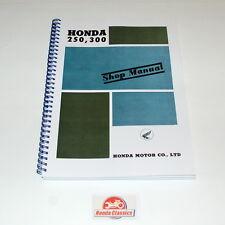 HONDA ORIGINALE OFFICINA SHOP MANUALE C72 C77 CB72 cb77 anni 60 RIPRODUZIONE