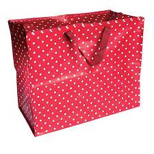 dotcomgiftshop JUMBO STORAGE RED RETRO SPOT RECYCLED REUSABLE LARGE LAUNDRY BAG