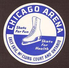 Chicago Arena Ice Skating Rink Vintage Sticker