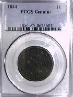 1844 Large Cent PCGS Genuine 18623683 Video