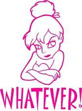 tinkerbell fairy girls girly pink vinyl car sticker wall art laptop novelty fun