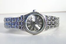 ROUSSEAU LADIES AVERY BRACELET WATCH WITH A CHARCOAL GREY CRYSTAL CALENDER DIAL
