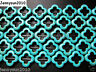 Blue Howlite Turquoise Gemstone 20mm Clover Spacer Loose Beads 16'' Strand