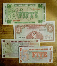 Set of 4 diff. Great Britain UK- BAF Au-Unc. 1970's 5, 10, 50 Pence and 1 Pound