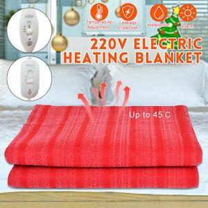 Electric Heated Throw Over Under Blanket Fleece Washable Flannel Warm Mattress