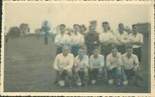 WW2 British Prisoners Of War POW's football Team Group Photo XXI D Poland