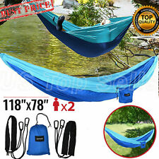 Double Camping Hammock Parachute Portable Lightweight Camping Travel
