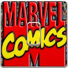 Marvel Avengers Comic Light Switch Vinyl Sticker Decal for Kids Bedroom #3