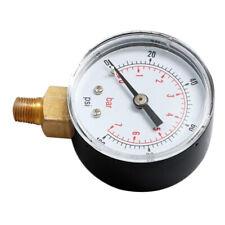 """Air Water Pressure Gauge 1/4""""BSPT Thread TS-Y504 0-100psi 0-7bar Side Mount"""