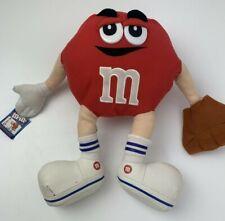 """Red M&M Candy Baseball Plush 14"""" Stuffed Toy"""