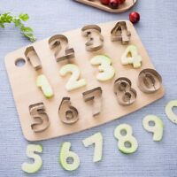 0-9 Number Cake Fondant Decor Biscuits Cookie Cutter Molds Mould Birthday DIY