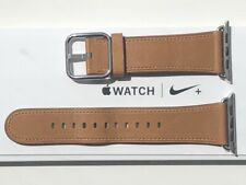 Apple Watch Leather Classic Buckle Strap 42/44mm SADDLE BROWN **RARE**