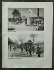AQ) Blatt 2.WK 1940 Fahrrad Tross Kolonne Soldaten Polen Ausrüstung Vysoka WWII