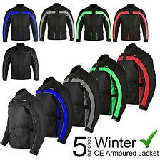 Waterproof Motorbike Motorcycle Cordura Mens Winter Jacket Coat Textile Armours