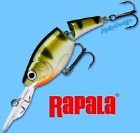 """Rapala Jointed Suspending 1.5"""" Yellow PERCH Shad Rap Fishing Lure (JSR04 YP)"""