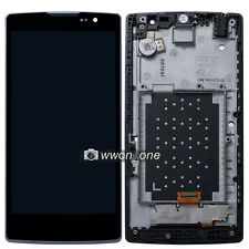 Black LG H440N Spirit 4G C70 LCD Display Touch Screen Digitizer Assembly+Frame