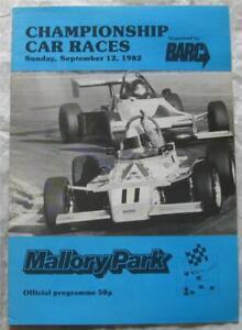 MALLORY PARK 12 Sep 1982 Championship Car Races BARC Official Programme