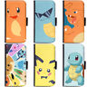 PIN-1 Game Pokemon 5 Phone Wallet Flip Case Cover for HTC Nokia Oppo Xiaomi