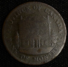 Canada 1/2 Penny Token 1844 28mm copper PC-1B2 Bank of Montreal