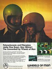 Wheels of Man Crash Helmets – 1974 Vintage Magazine Advert US 'Cycle' Magazine