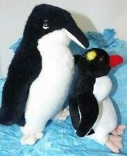 Penguins 2 Black & White Plush Stuffed Animals 6 -10""