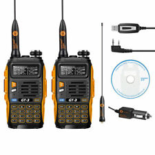 2x Baofeng GT-3 MarkII  VHF/UHF Dual Band Ham Two-way Radio + 1 x free USB Cable
