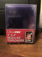25 Ultra Pro 3X4 Regular Toploaders 35pt 1 Pack of 25 for Standard Sized Cards