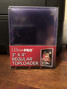 25 Ultra Pro 3X4 Regular Toploaders 35pt 1 Pack of 25 for Standard Sized Cards