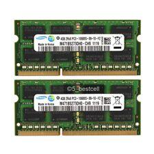 Pair Samsung 8GB 2X4GB PC3-10600S DDR3-1333MHz 204pin Laptop SODIMM Memory Ram