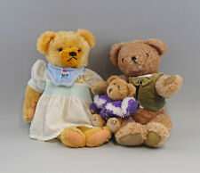 8310025 Teddy-Familie 3 Teddys Mother Father Child Plush Old