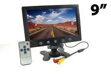 "Monitor 9"" TFT LED Display 2 Canali Ingressi Video Per Telecamera Auto 16:9 hsb"