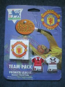 MANCHESTER UNITED TEAM PACK MAGNET COLLECTION, NEW, 1996
