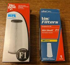2 F1 Dirl Devil HEPA Filter Bagless Upright Vacuums Cruiser Featherlite Jaguar